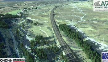 Fly through visualisation - Dalwhinnie to Crubenmore - A9 Dualling