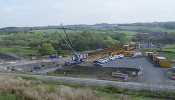 Timelapse footage - Viaduct construction - A737 Dalry Bypass