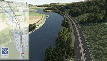 A9 Dualling: Tay Crossing to Ballinluig Preferred Option visualisation