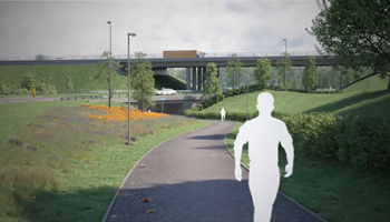 A720 Sheriffhall Roundabout scheme - Walkthrough visualisation