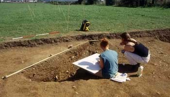 Archaeologists on site at the Dunragit Bypass