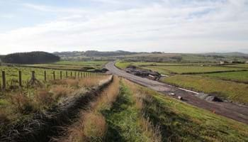 South west of Stoopshill Farm, looking south west towards the Glasgow-Ayr railway line- Oct 2018 - A737 Dalry Bypass