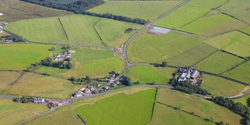 Aerial view - Highfield Junction - 17 Jul 2017 - Dalry Bypass