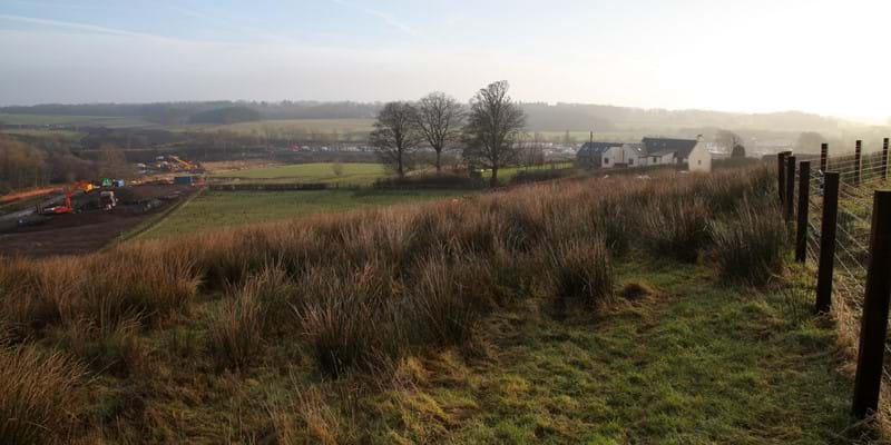 Ground view of Hillend - 10 Jan 2018 - Dalry Bypass
