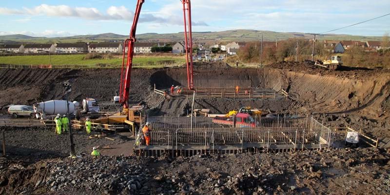 Ground view - East Blair Rd -  28 Nov 2017 - Dalry Bypass