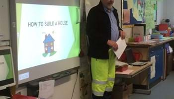Alvie school children find out how to build a house
