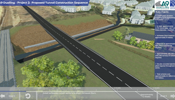 Construction sequence visualisation - Pass of Birnam to Tay Crossing - A9 Dualling