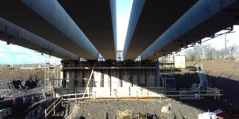 Beam installation - Jan 2018 - Dalry Bypass