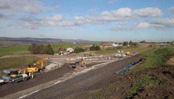 Highfield, looking north towards the proposed roundabout- Oct 2018 - A737 Dalry Bypass