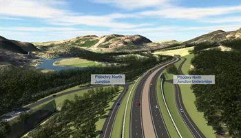 A9 Dualling: Pitlochry-Killiecrankie: Preferrered route visualisation