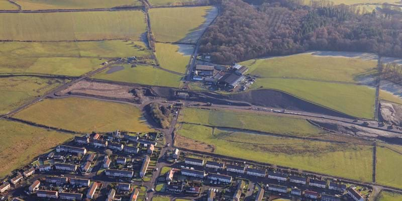 Aerial view of Blair Road - 16 Jan 2018 - Dalry Bypass