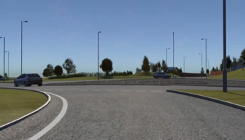 A737 Improvements at Beith - Drivethrough visualisation